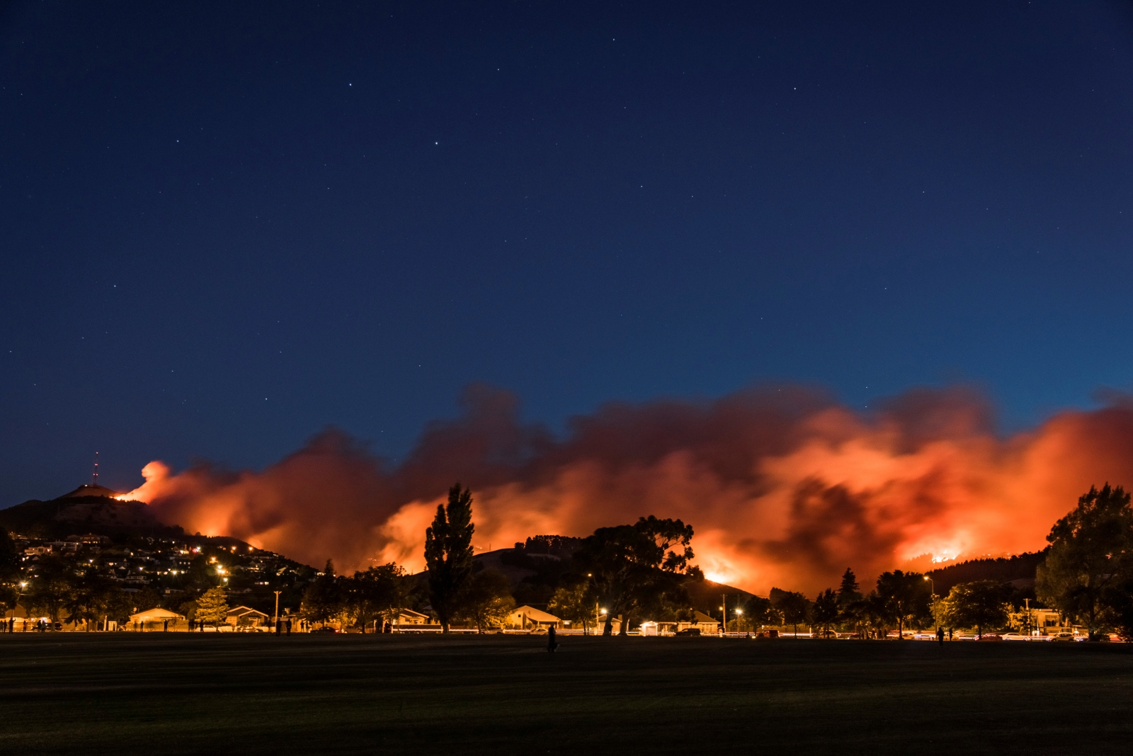 Firefighters battling wildfire in New Zealand city
