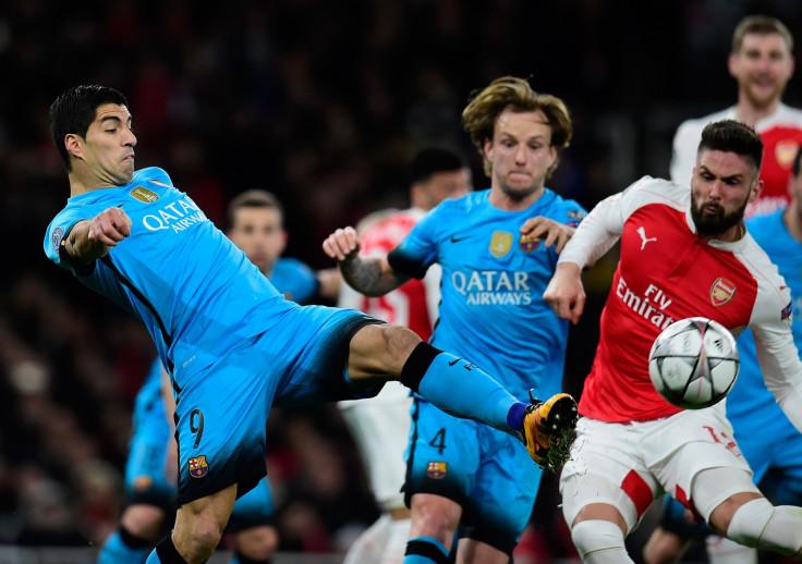Luis Suarez and Olivier Giroud