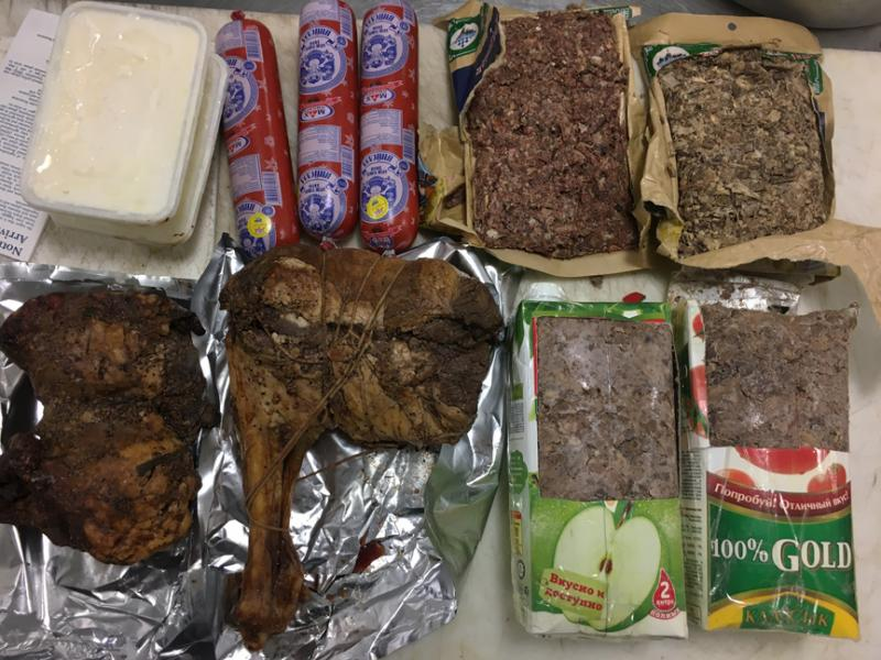 Seized horse meat