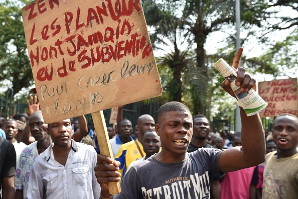 Cocoa farmers protests in Ivory Coast