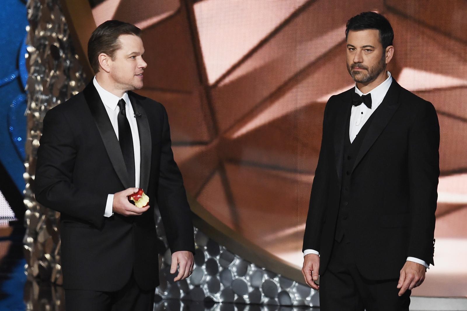 Matt Damon and Jimmy Kimmel