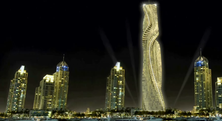 World's first rotating skyscraper Dynamic Tower Dubai