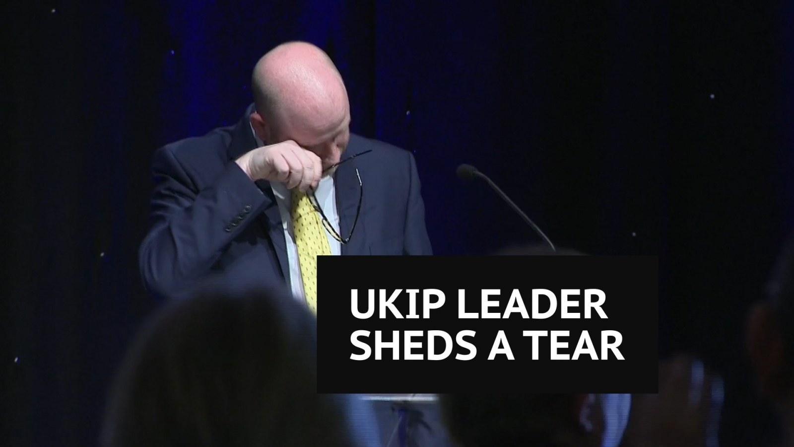 'I will not allow them to break Ukip' Paul Nuttall gets emotional during party conference speech