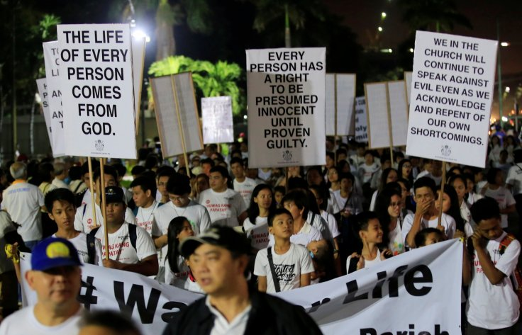 Philippine war on drugs protest