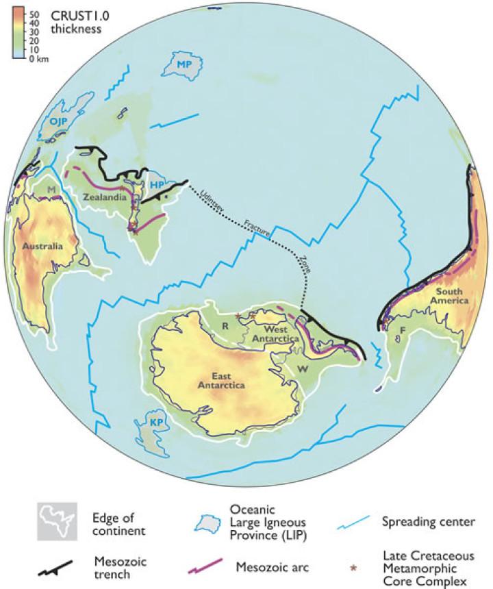 Zealandia on World Map