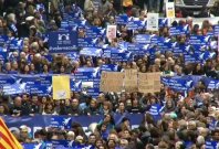 Thousands march through streets of Barcelona demanding more refugee intake by Spain
