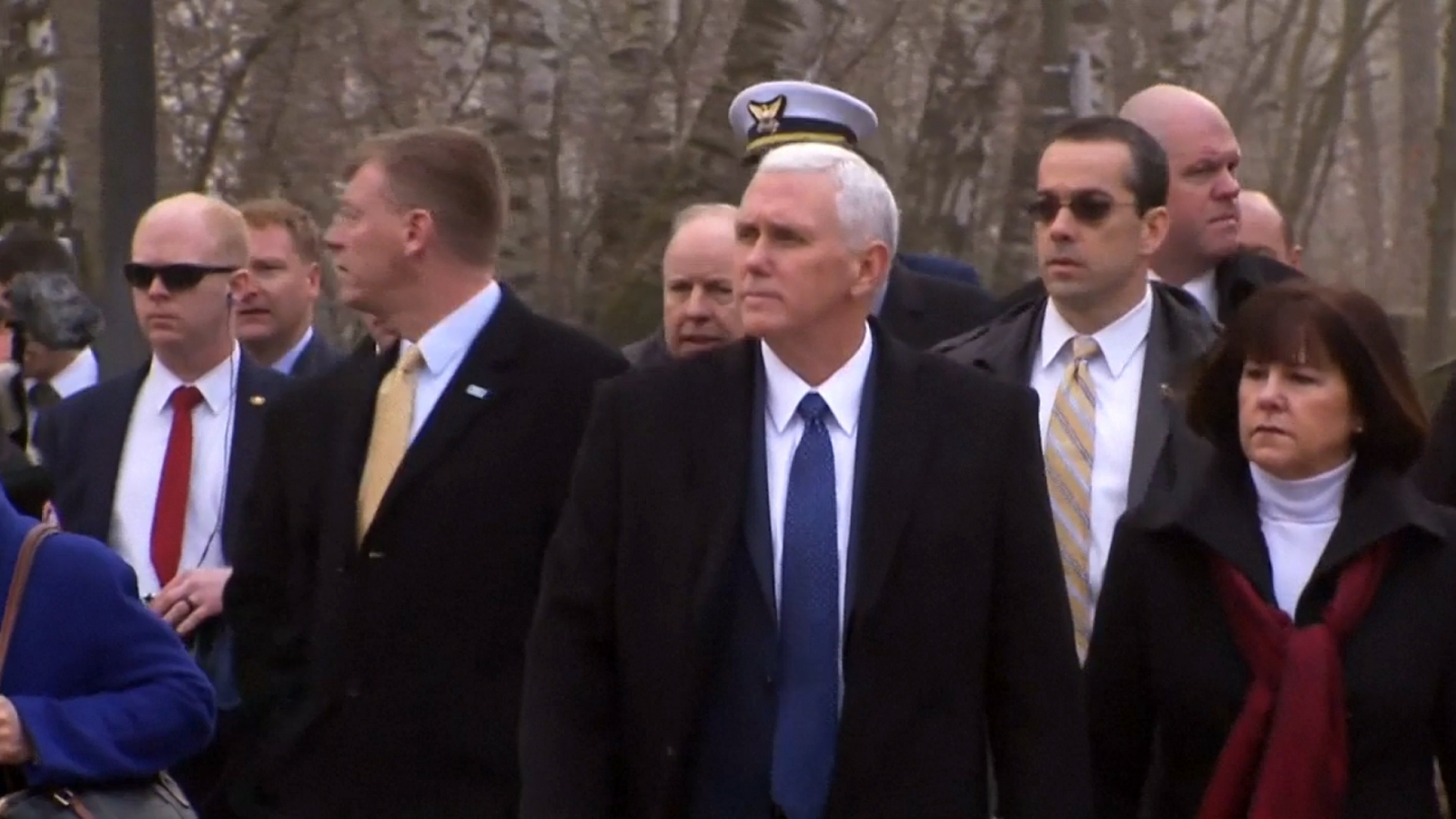 Mike Pence visits Dachau concentration camp