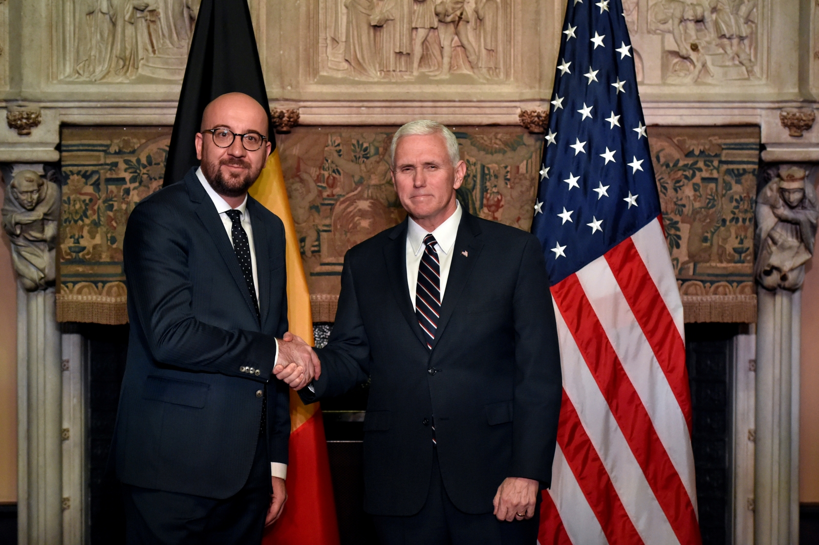 Charles Michel, Mike Pence