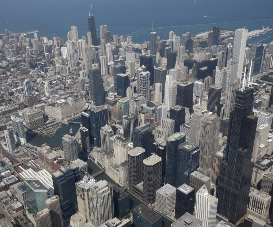 A view of the Chicago skyline
