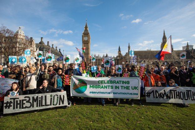 1daywithoutus the3million donald trump london