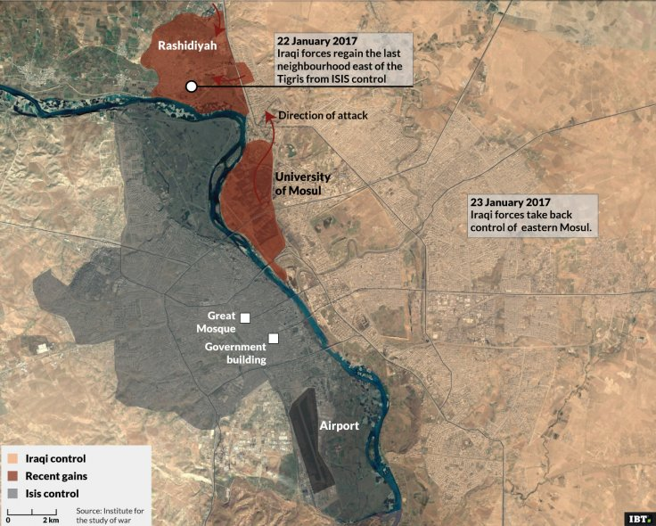 City of Mosul: updated map as 20/02/2017