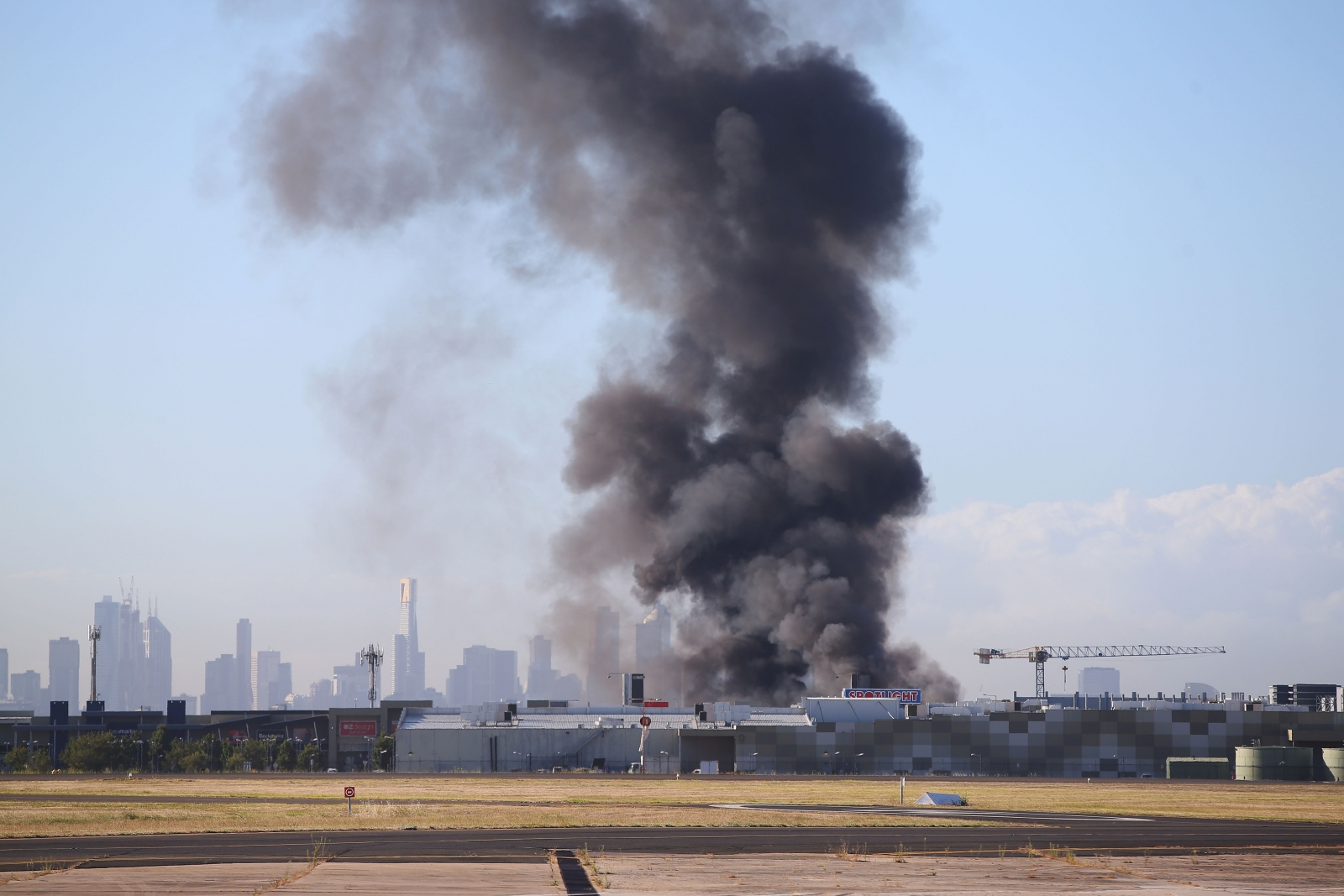 Essendon Airport Australia crash