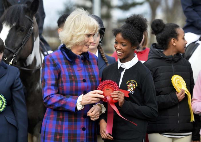 Duchess of Cornwall at a Horse club