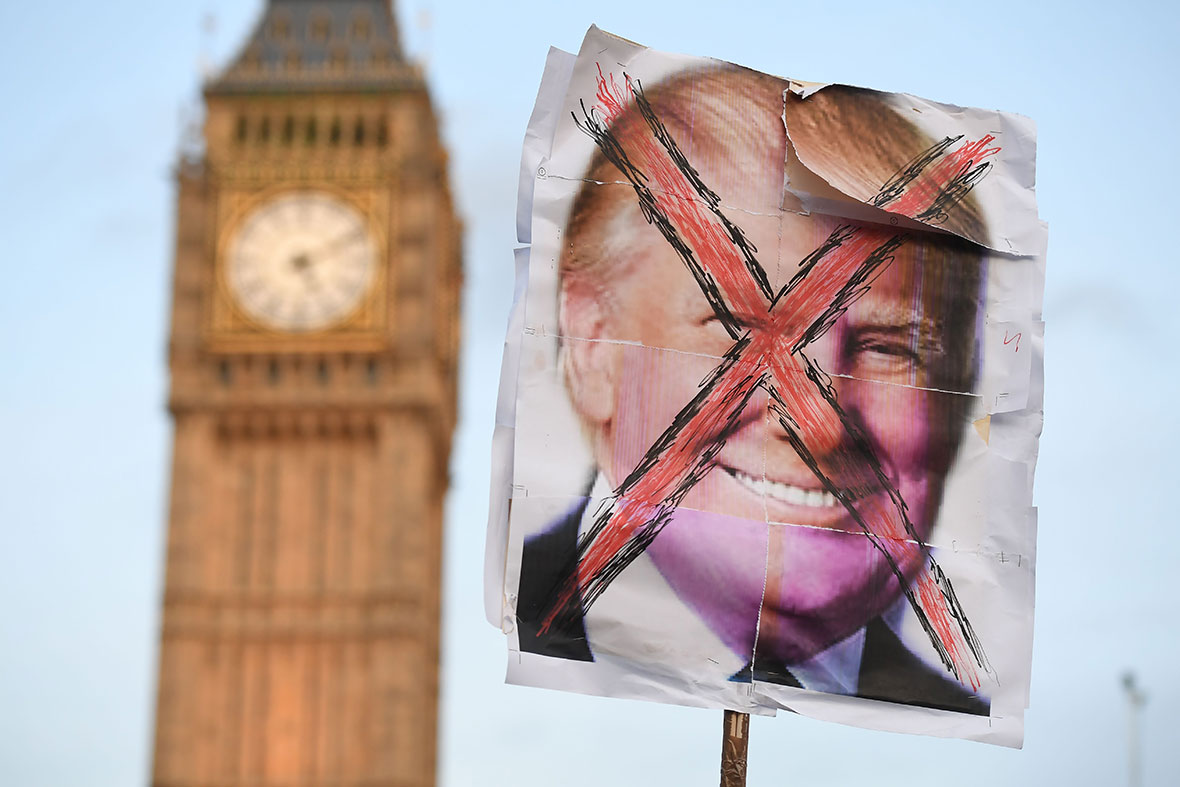 Trump protest, London