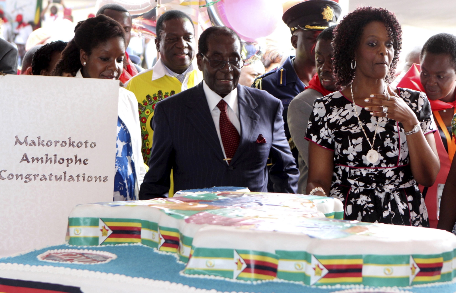 Mugabe's wife says he could run in election 'as a corpse'