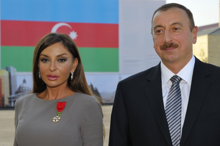 Azerbaijan president Ilham Aliyev and Mehriban Aliyeva