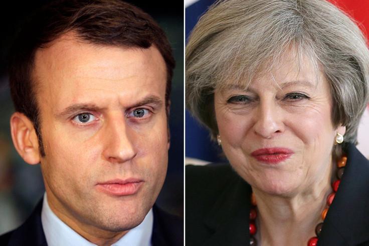 Emmanuel Macron, Theresa May
