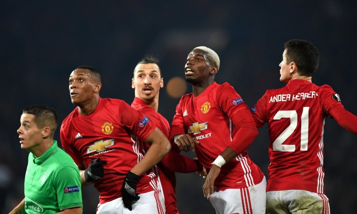 Anthony Martial, Paul Pogba and Zlatan Ibrahimovic