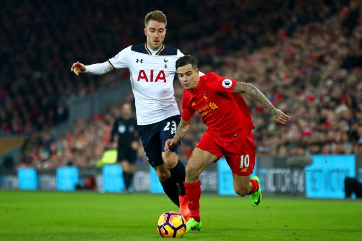 Christian Eriksen and Philippe Coutinho