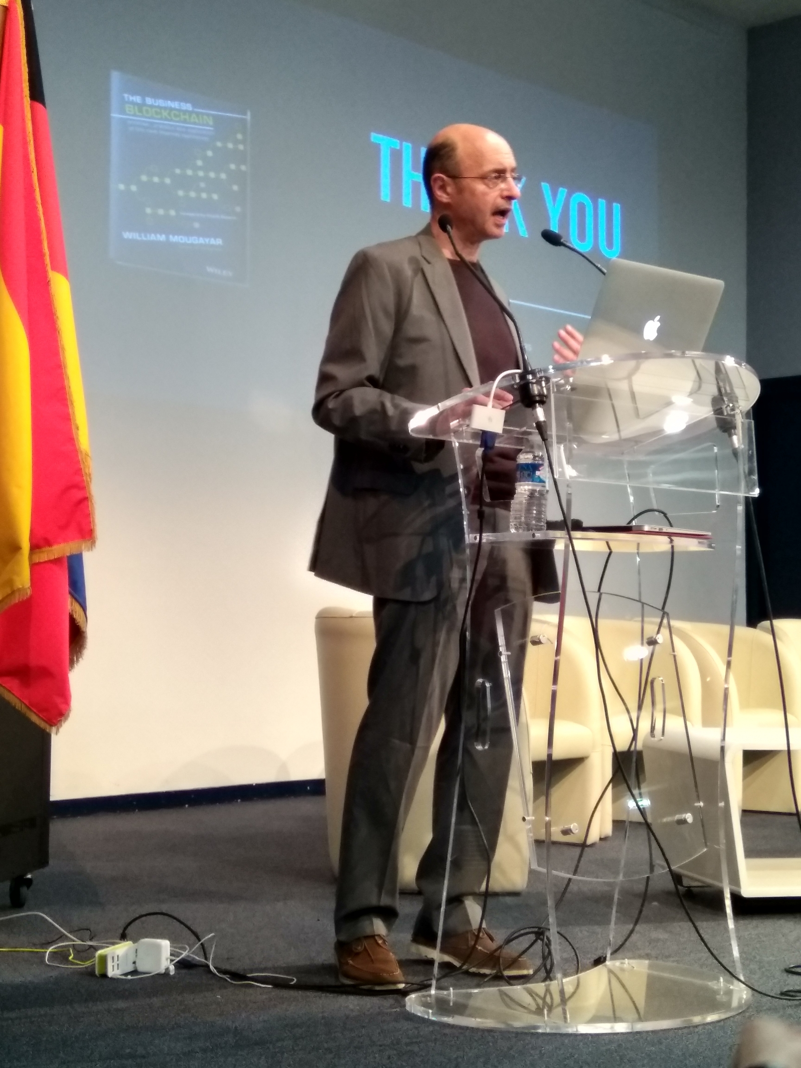 William Mougayar onstage at EDCON, Paris