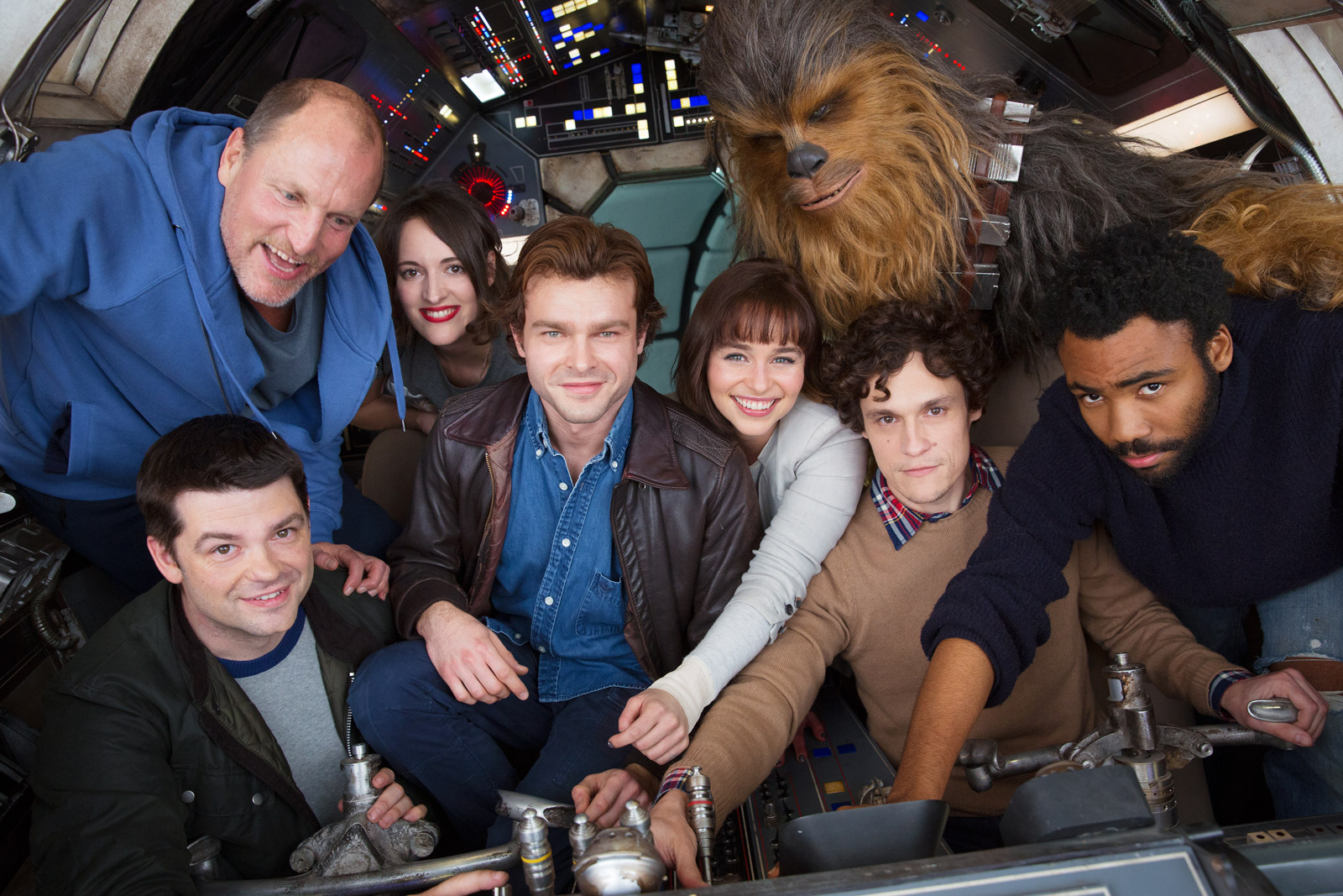 Han Solo movie cast photo