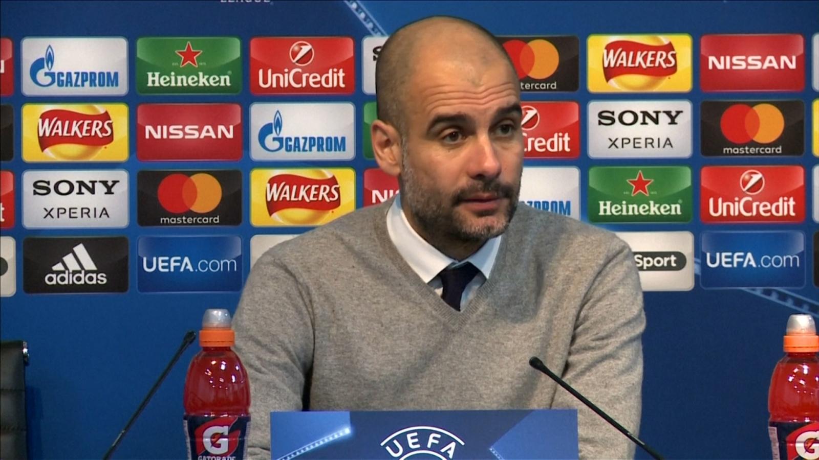 Pep Guardiola praises team after win