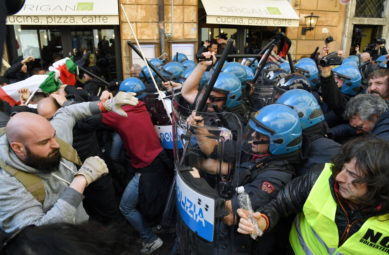 Rome clashes