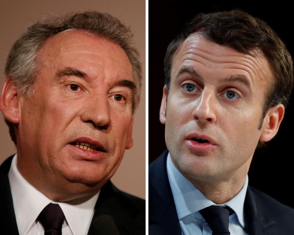 Francois Bayrou, Emmanuel Macron