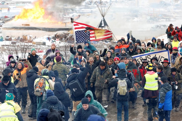 Dakota pipeline protesters