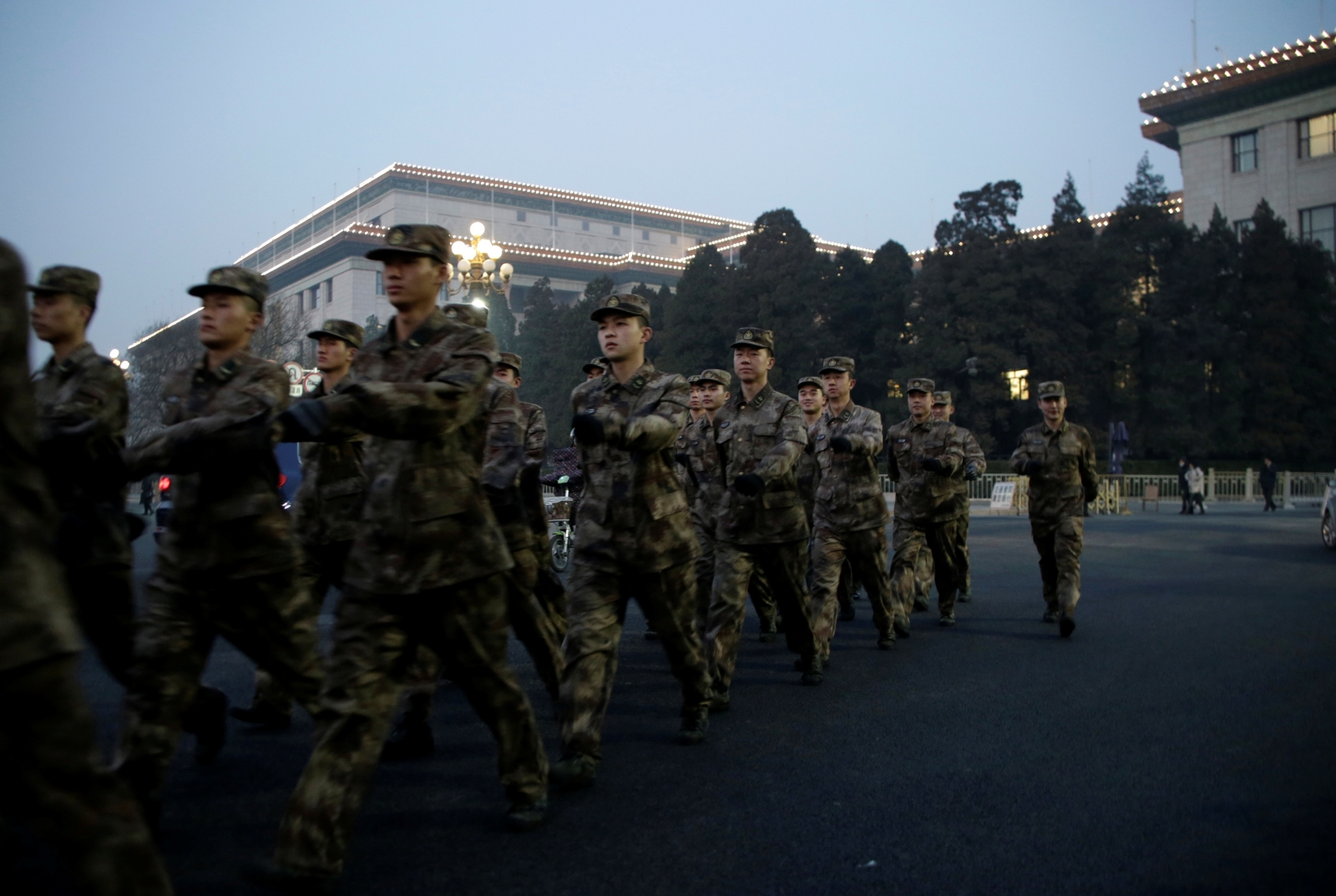 China veterans pension protest