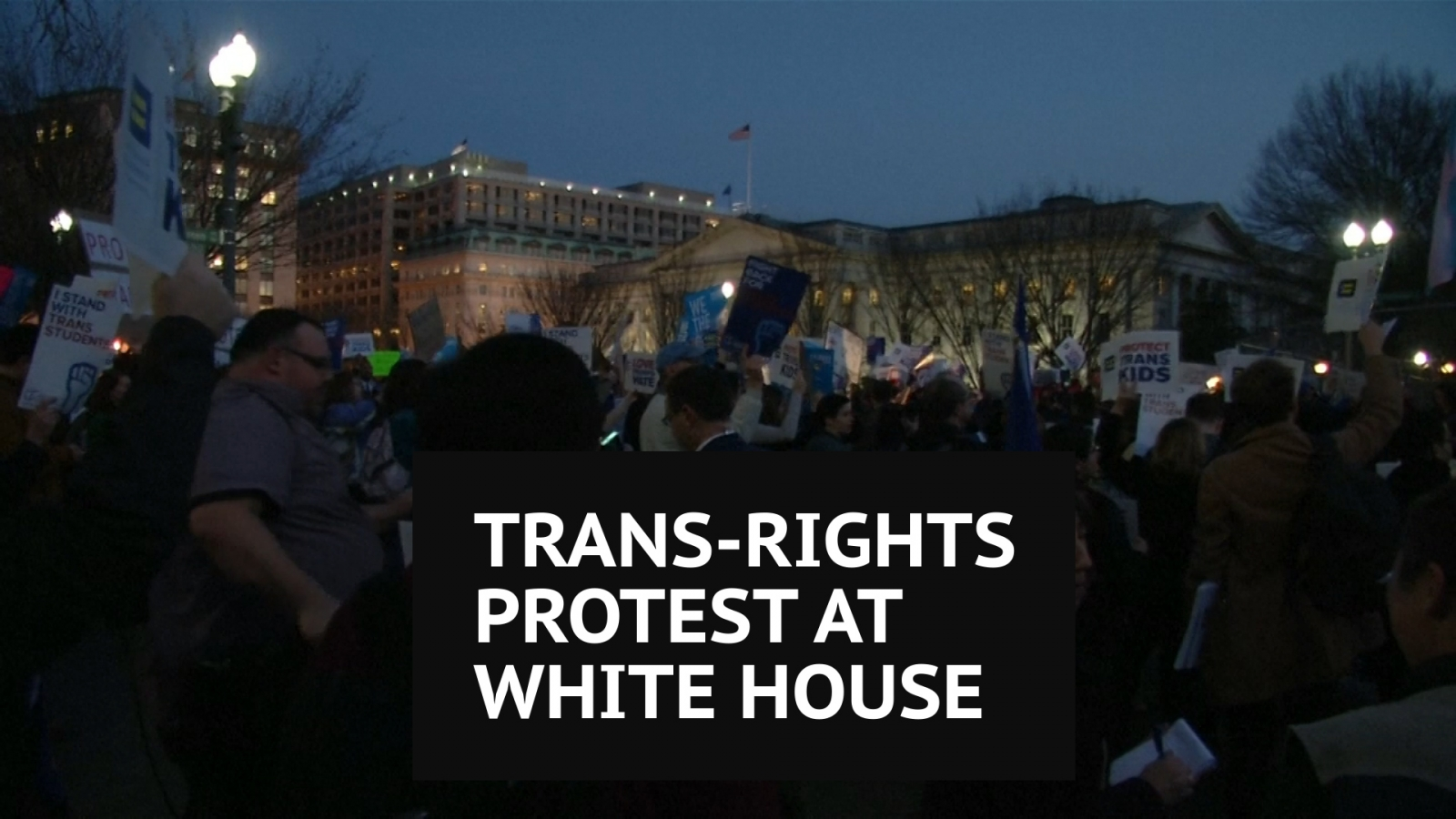 Trans-rights protest at White House
