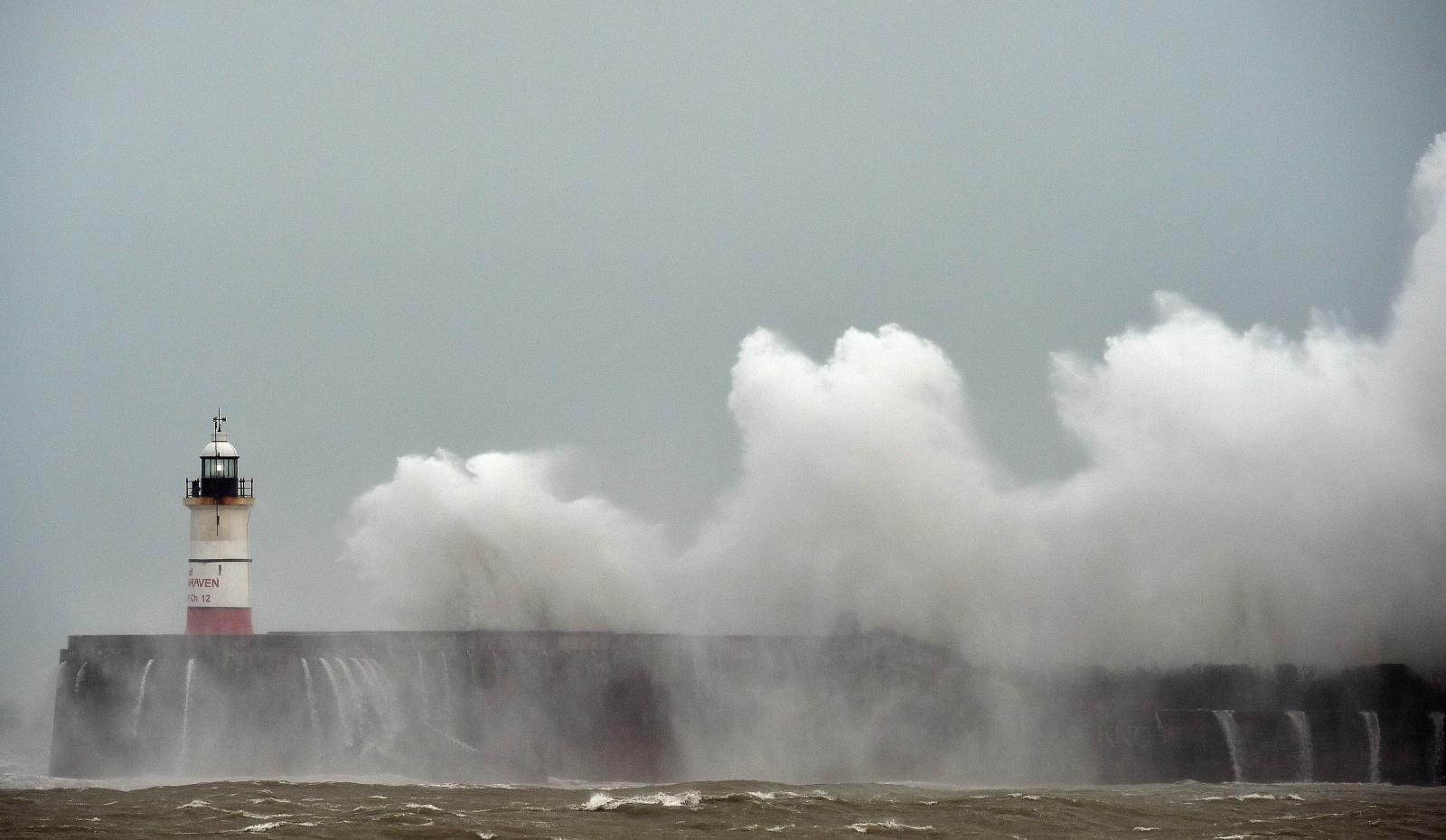 Storm Doris coast Newhaven