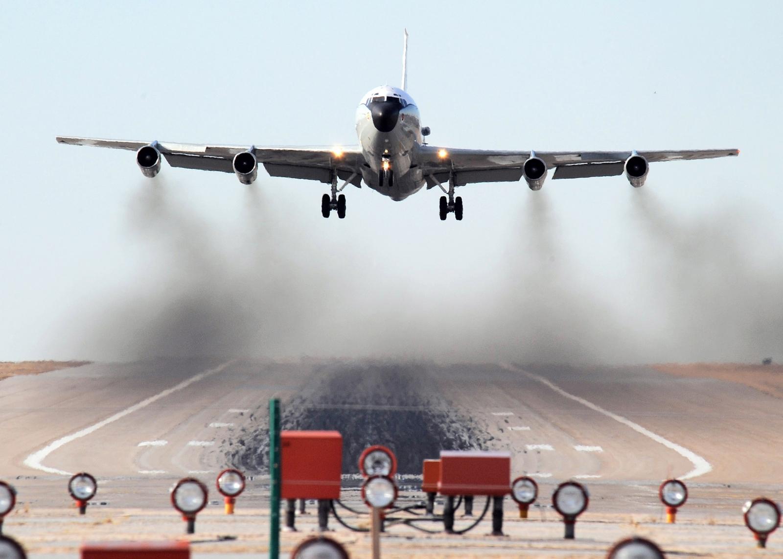 A WC-135W Constant Phoenix aircraft