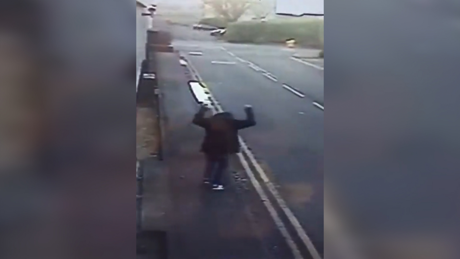 Heartwarming CCTV footage of homeless man celebrating getting a job goes viral