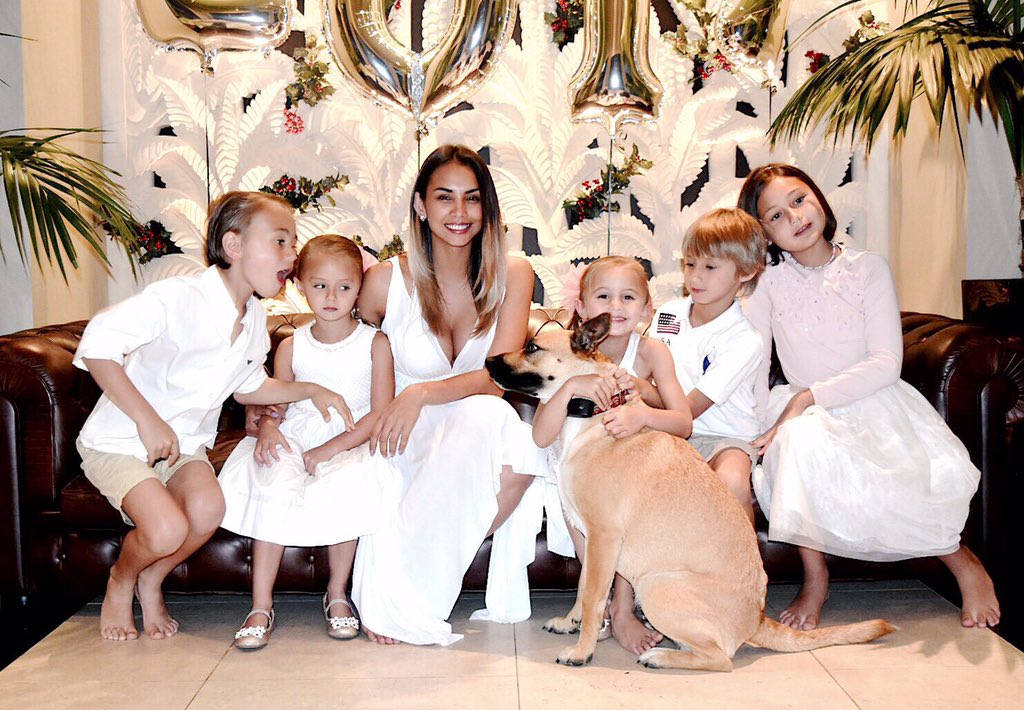 Mona Dotcom (née Verga) together with their five children