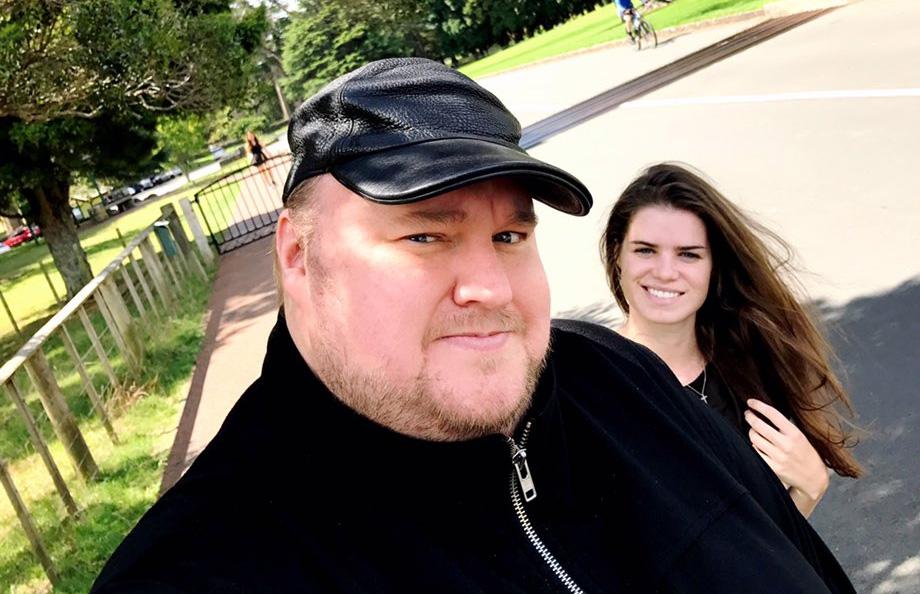Kim Dotcom and girlfriend Elizabeth Donnelly