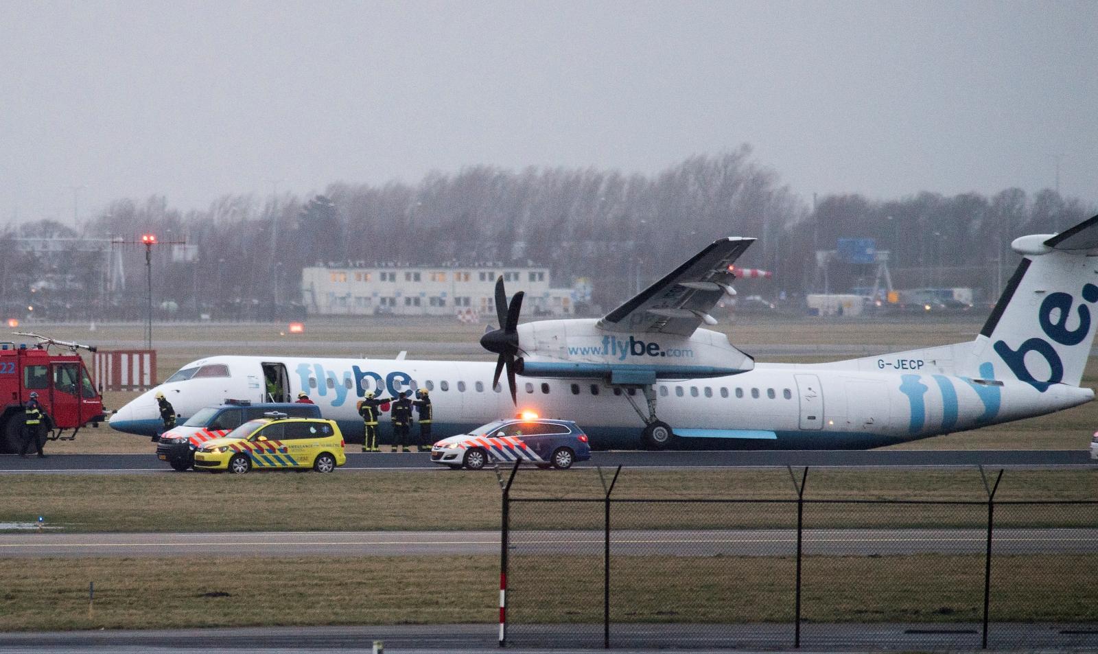 Flybe Schiphol crash landing 2017