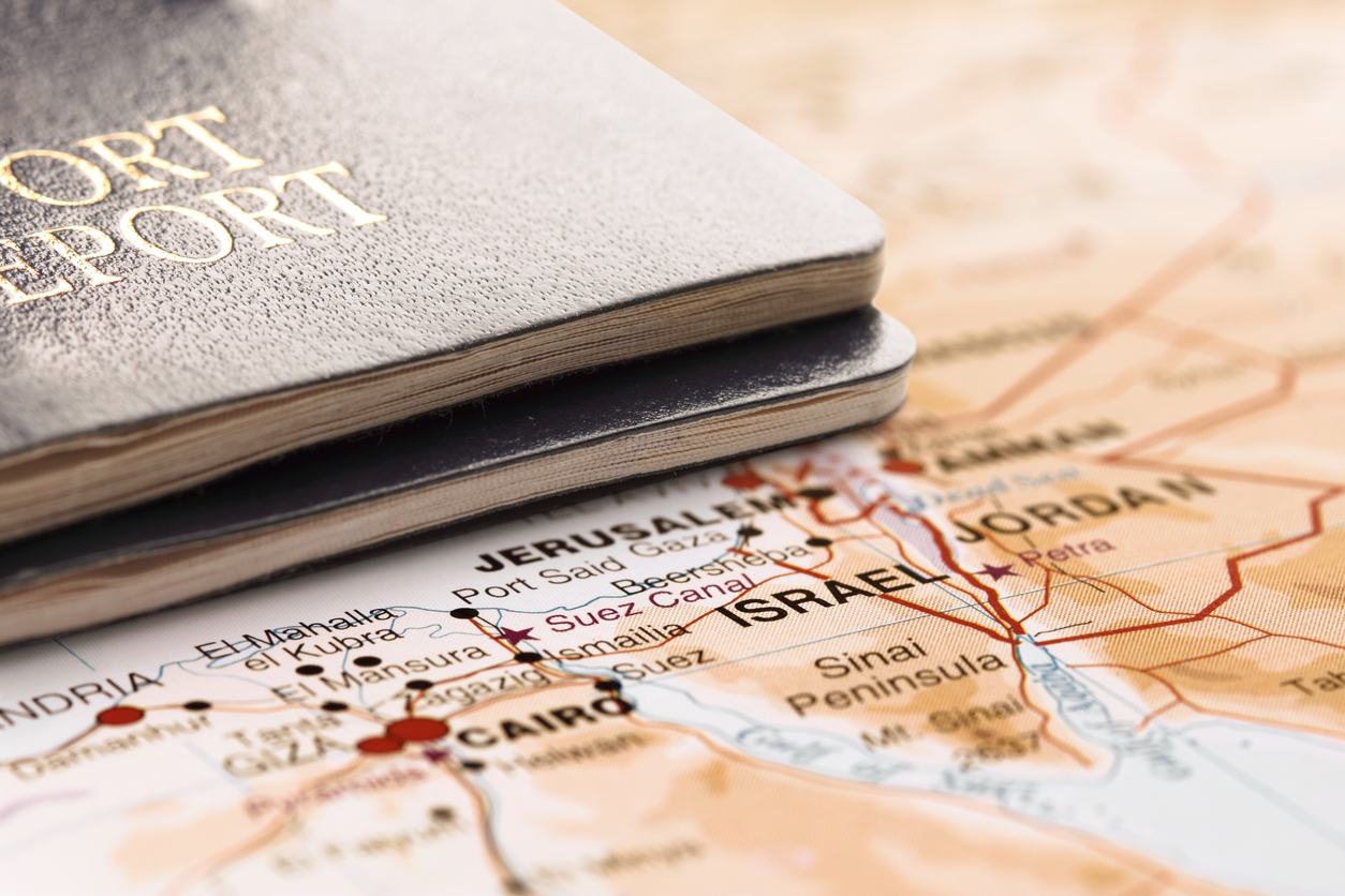 Israel border passport visa