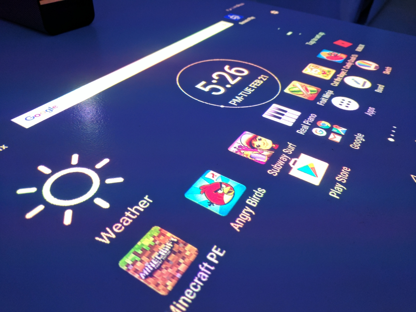Xperia Touch short throw projector display