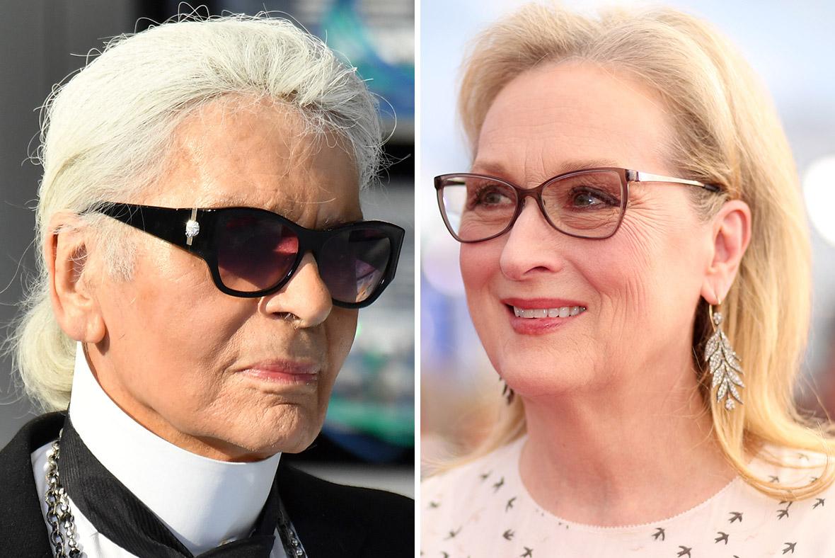 Karl Lagerfeld/ Meryl Streep