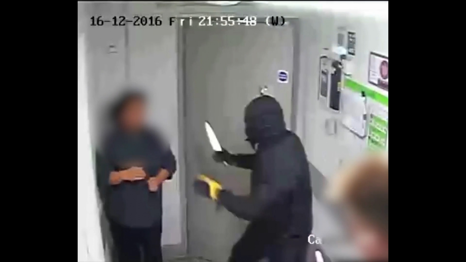 Shocking CCTV footage shows armed robbery in Brighton