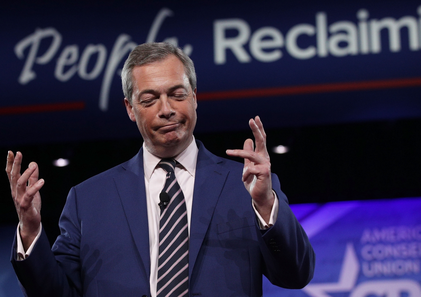 Nigel Farage speaks at CPAC