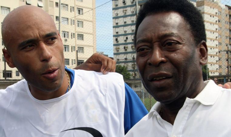 Pele and son Edinho