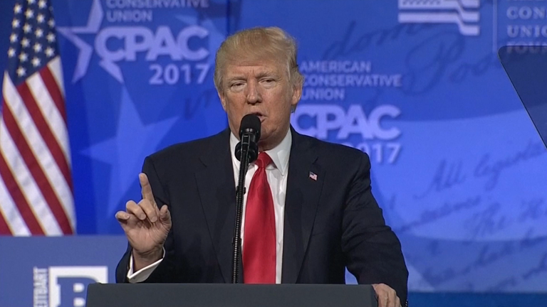 Trump said immigration is damaging Paris during CPAC 2017 speech