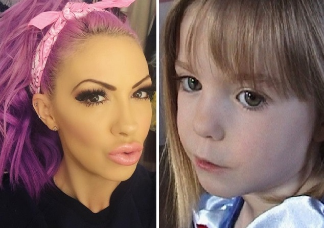 Jodie Marsh and Madeline McCann