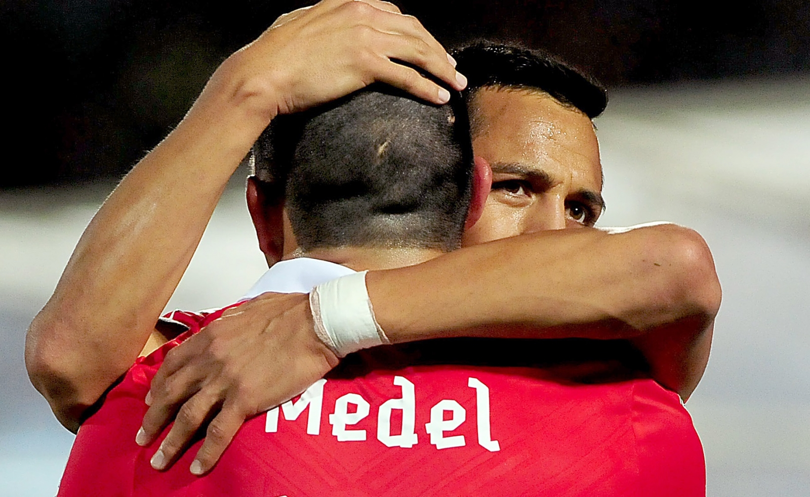 Alexis Sanchez and Gary Medel