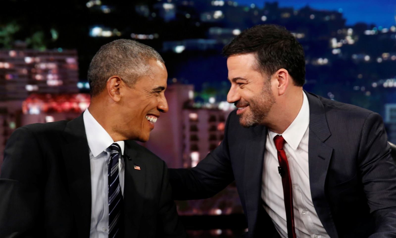 Jimmy Kimmel and Barack Obama