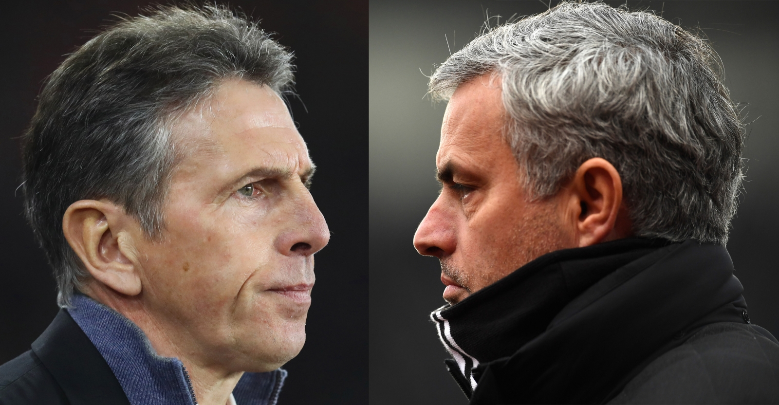 Claude Puel and Jose Mourinho