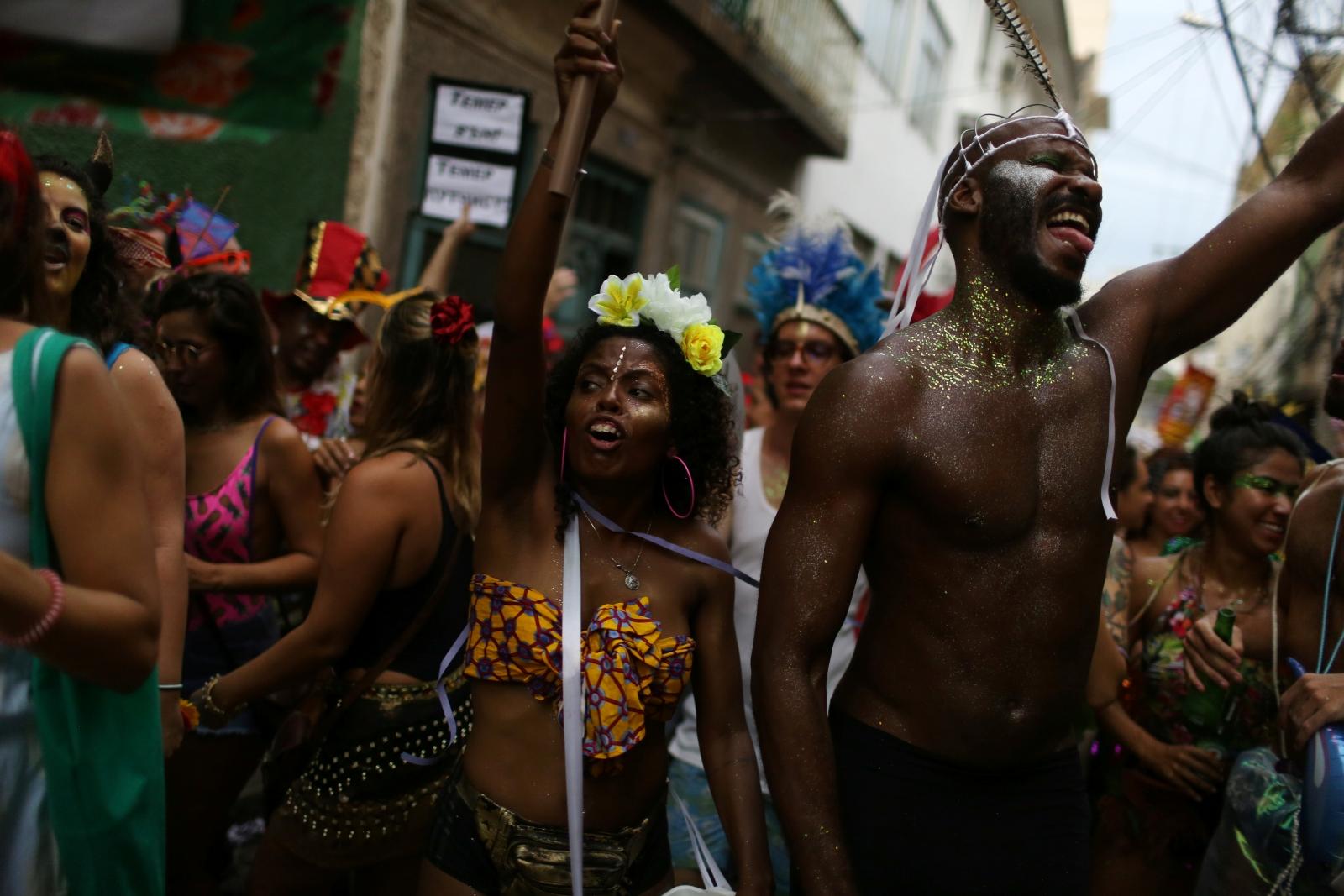 Carnival festivities in Rio Janeiro, Brazil