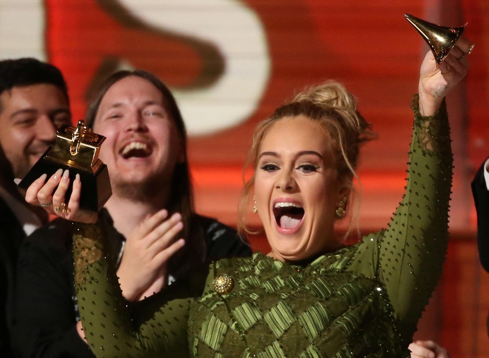 Adele Adkins at Grammy Awards 2017
